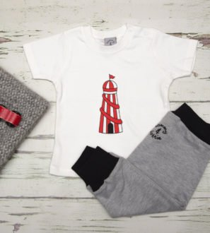 Helter Skelter T-Shirt & Black Harems Gift Set by Tommy & Lottie at Nurture Collective