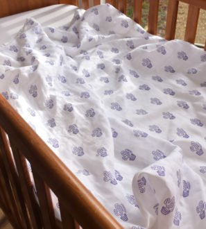 Cactus Print Baby Swaddle by Little Leaf Organic at Nurture Collective