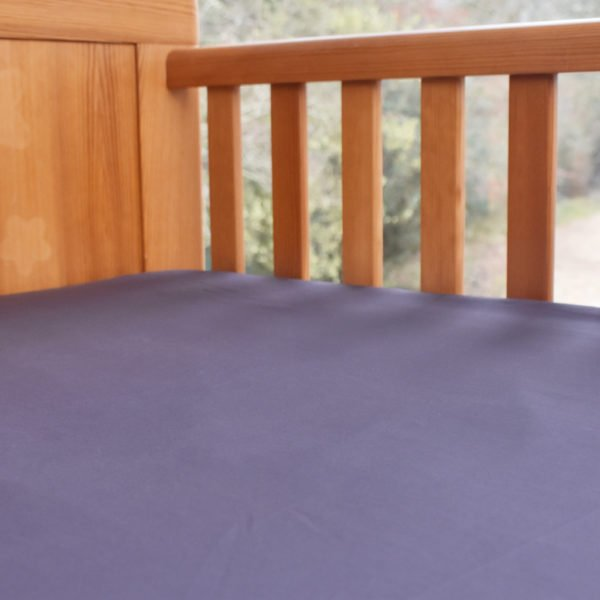 Fitted Baby Cot Bed Sheet in Chocolate Plum by Little Leaf Organic at Nurture Collective