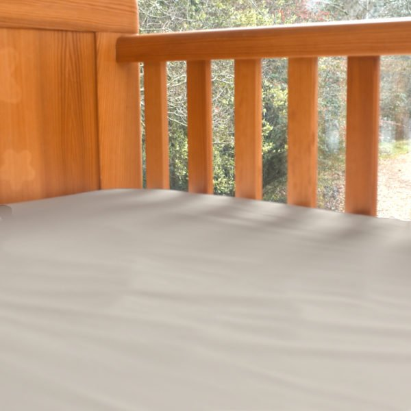 Fitted Baby Cot Bed Sheet in Natural by Little Leaf Organic at Nurture Collective