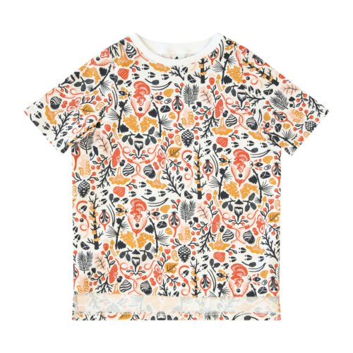 The Forest Muse Digital Print Tee in Pink Forest Pattern by Totem Kids at Nurture Collective