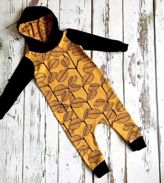 Autumn Leaves Pull on Romper By Maebelle & Bo at Nurture Collective