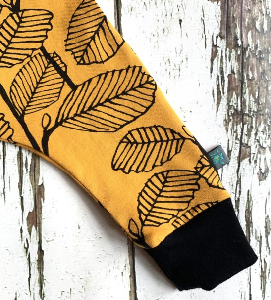 Autumn Leaves Pull on Romper in Yellow By Maebelle & Bo at Nurture Collective