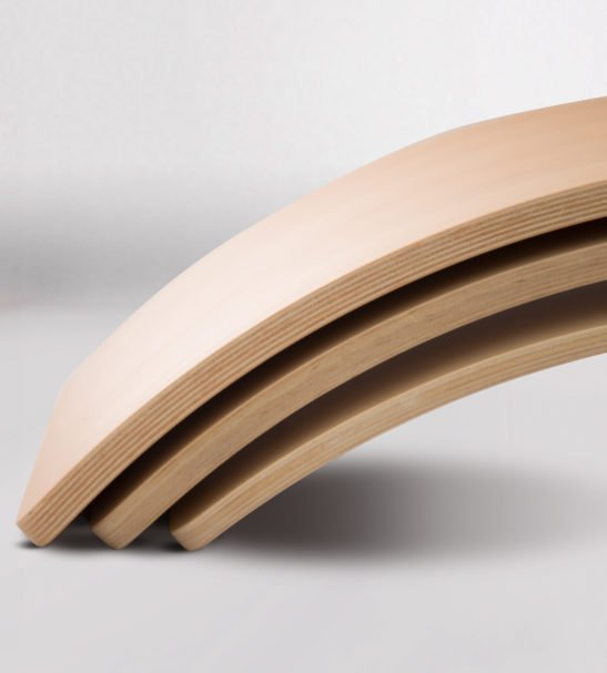 A Rainbow of Curvy Wooden Balance Board by Young & Learning at Nurture Collective