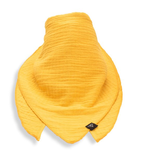 Ponchlin sunshine yellow scarf available at Nurture Collective