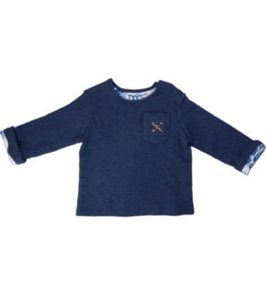 Hunter & Boo Reversible Sweater in Kaiyo/Navy at Nurture Collective