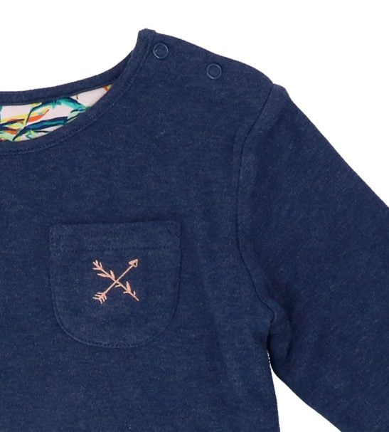 Hunter & Boo Reversible Sweater in Palawan/Navy at Nurture Collective