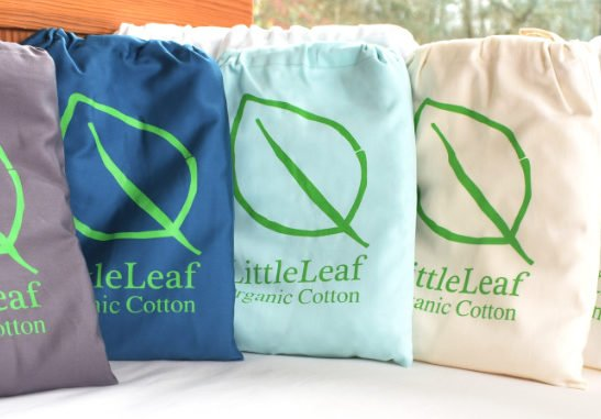 The selection of Cot Sheet bags by Little Leaf Organic at Nurture Collective
