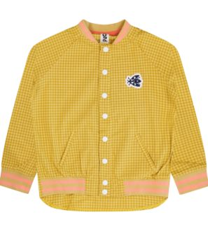 Gingham Bomber Shirt by Totem Kids at Nurture Collective