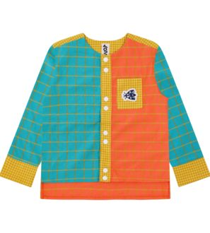 Front of Gingham Mix Shirt by Totem Kids at Nurture Collective