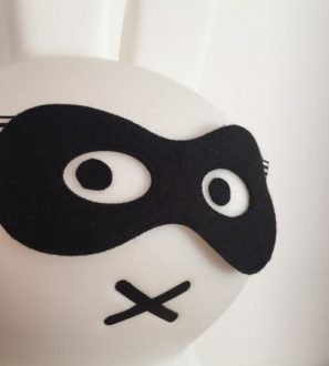 Super Soft Kids Bandit Mask for Halloween Costumes at Nurture Collective.