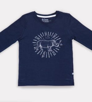 Rory Rhino Unisex Sweatshirt by Cooee Kids at Nurture Collective Eco Friendly Kids Fashion