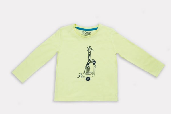 Yellow Gerald the Giraffe T-Shirt by Cooee Kids at Nurture Collective Eco Friendly Kids Fashion