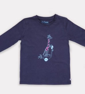 Gigi Giraffe T-Shirt by Cooee Kids at Nurture Collective Eco Friendly Kids Fashion