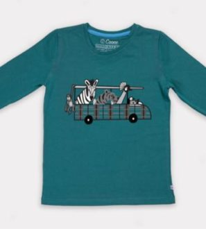 Safari Car T-Shirt by Cooee Kids at Nurture Collective Eco Friendly Kids Fashion
