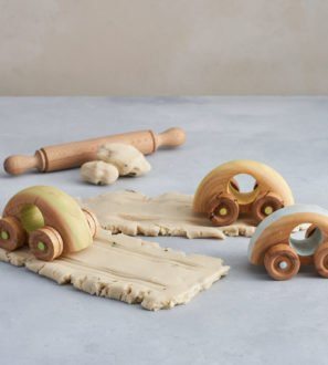 Set of 3 Wooden Crafty Cars by Loveheart Wood at Nurture Collective