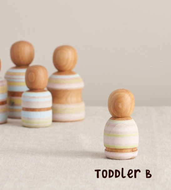 Wooden Peg Dolls Family of Dolls, Toddler B by Handmade by Love Heartwood at Nurture Collective