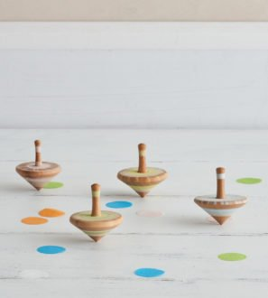 Wooden Spinning Tops by LoveHeart Wood at Nurture Collective