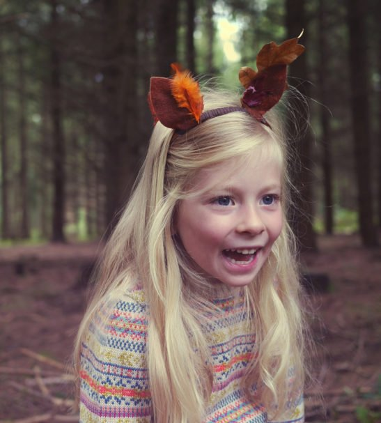 Little Girl Wearing Fairilse Jumper by Faraway Gang at Nurture Collective