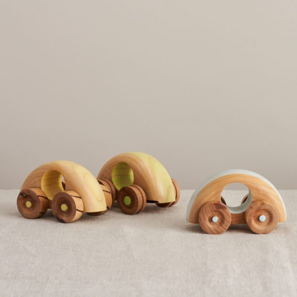 Set of Three Crafty Wooden Cars by LoveHeart Wood at Nurture Collective