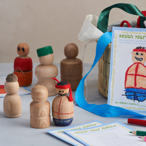 Wooden Peg Dolls Family of Dolls, by Handmade by Love Heartwood at Nurture Collective