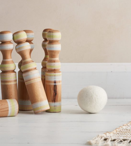 Wooden Skittles Set by Love Heartwood at Nurture Collective