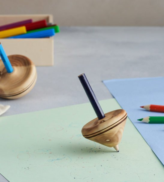 Wooden Spinning Pencil Tops by Love Heartwood at Nurture Collective