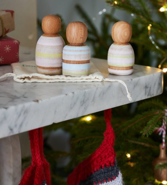 Wooden Toys for Christmas Wooden Peg Dolls, Handmade by Love Heartwood at Nurture Collective