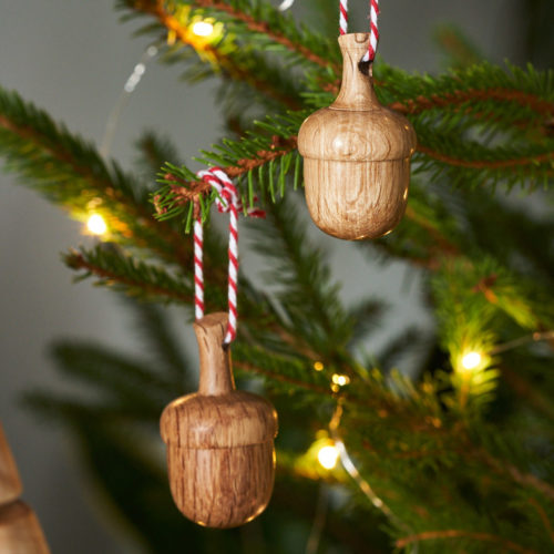 Wooden Acorn Christmas Tree decoration by Loveheart Wood at Nurture Collective