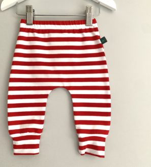 Candy Cane Christmas Leggings by Maebelle & Bo at Nurture Collective