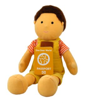 Joyful Jun Boy Soft Doll by Dear One World into a Box at Nurture Collective