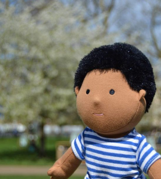 Positive Parth Soft Doll by Dear One World into a Box at Nurture Collective
