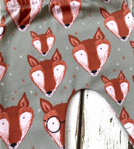 A Close up of the Mr Fox Leggings by Maebelle & Bo at Nurture Collective
