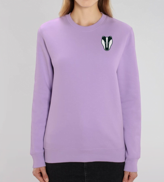 Organic Badger Adult Sweatshirt in Lavender by Tommy & Lottie at Nurture Collective