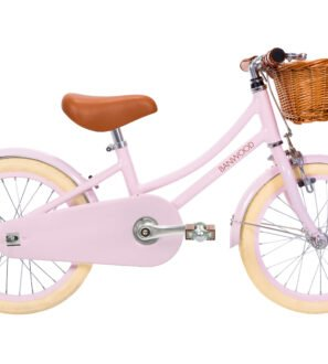 The Banwood Childs Vintage Bike in Classic Pink now available at Nurture Collective