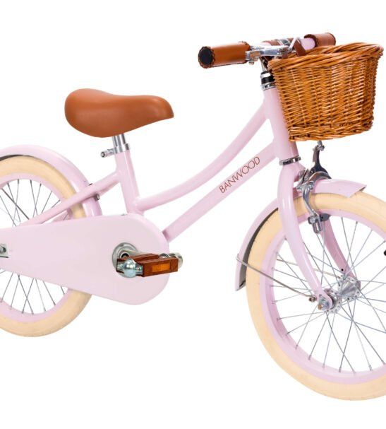 The Banwood Childs Vintage Bike in Classic Pink without Stabilisers now available at Nurture Collective
