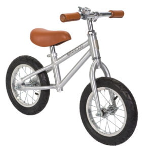 The Banwood Balance Bike in Chrome now available at Nurture Collective