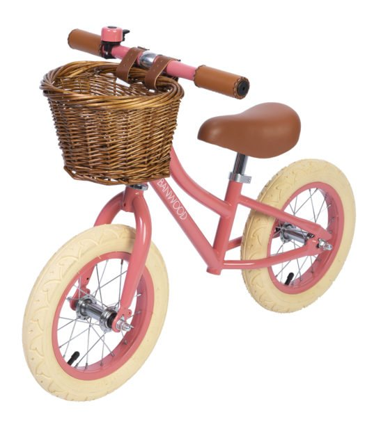 Banwood Balance Coral Bike with Basket & Bell now available at Nurture Collective
