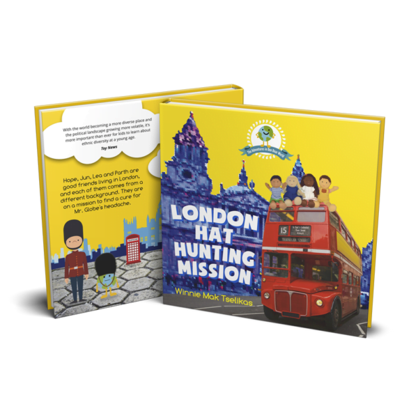 London Hat Hunting Mission Book to accompany the Dear One World Soft Doll Collection Available at Nurture Collective