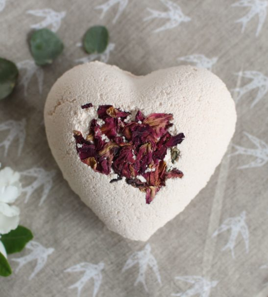 Heart Bath Bomb by Authentic House at Nurture Collective