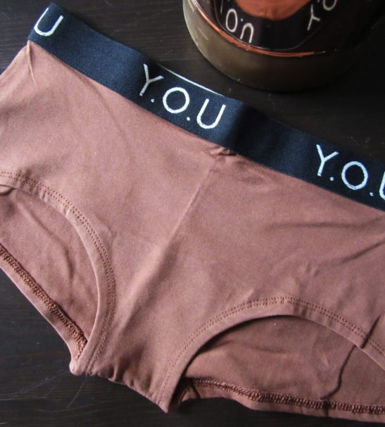 Women Branded Boy Shorts Chestnut Mid Nude Single by YOU Underwear at Nurture Collective