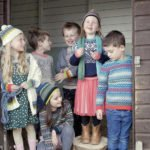 A Group of Children Wearing Faraway Gang Collection of Jumpers at Nurture Collective Maker of the the Month Blog