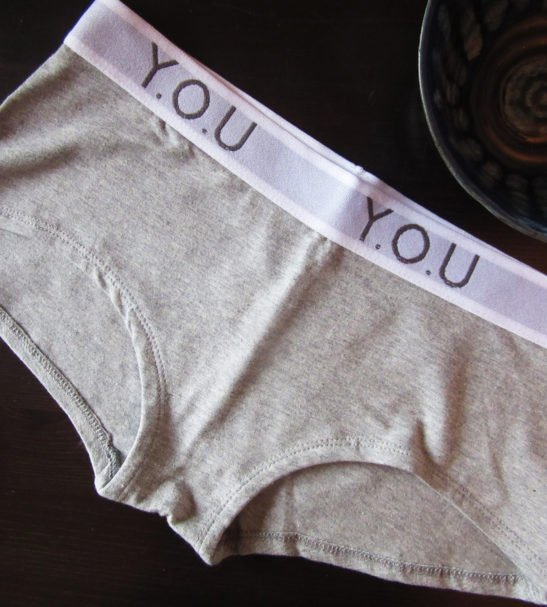 Women Branded Boy Shorts Grey by YOU Underwear at Nurture Collective