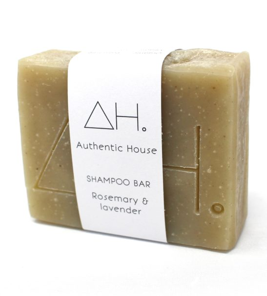 Rosemary Lavender Shampoo Soap Bar Eco friendly Products by Authentic House at Nurture Collective