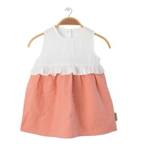 The front view of the Summer Dress Lolipop Peach by Peter Jo at Nurture Collective
