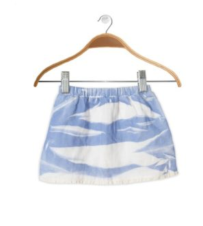 Front of Scintilla Skirt Blue Tie Dye by Peter Jo at Nurture Collective