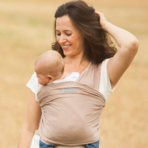 Mocha Cream Baby Carrier sling by Ama Wraps at Nurture Collective