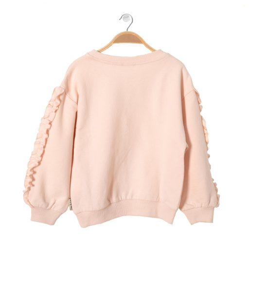 Back of Girls Sweatshirt Fairy Pink by Peter Jo at Nurture Collective