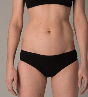 The black set of underwear organic by You Underwear at Nurture Collective