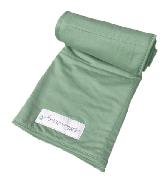 Bamboo baby blanket, emerald green by Little Earth Baby at Nurture Collective
